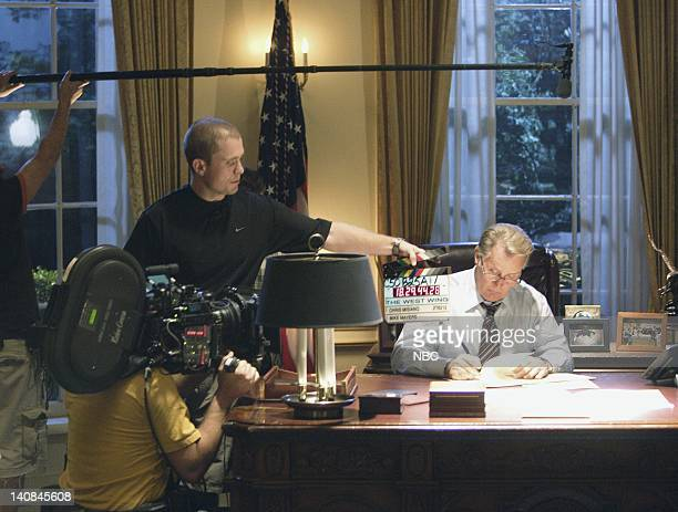 WING 'Duck and Cover' Episode 12 Aired 1/26/06 Pictured Martin Sheen as President Josiah 'Jed' Bartlet Photo by Paul Drinkwater/NBCU Photo Bank