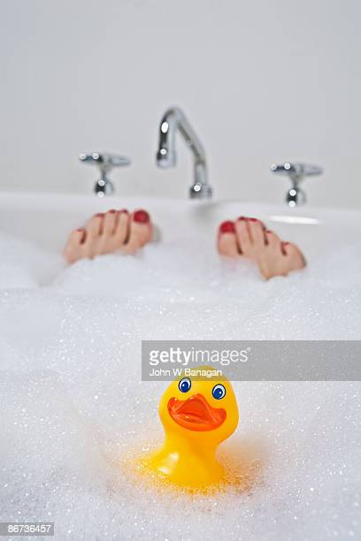 Duck and feet in bath