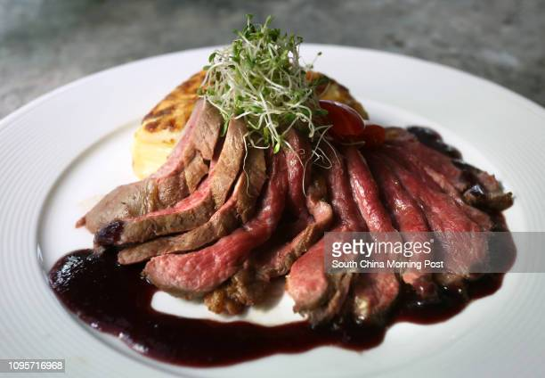 Duck breast with dark cherries sauce and potato gratin from Collection de Vignobles in Kennedy Town 03JUN15