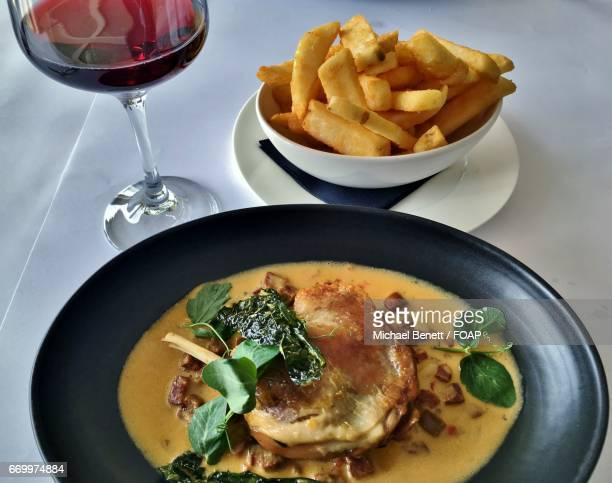 Duck confit with french fries
