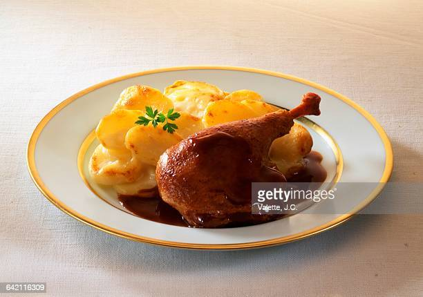 Duck confit with gratin dauphinois