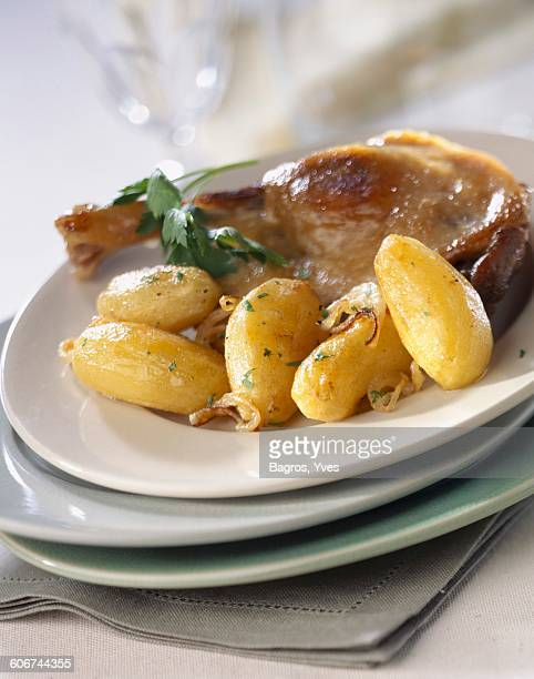 Duck conserve with potatoes