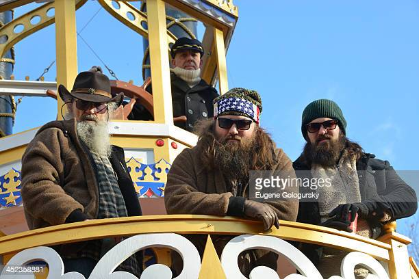Duck DynastyPhil Robertson Willie Robertson and Jase Robertson attend the 87th annual Macy's Thanksgiving Day parade on November 28 2013 in New York...