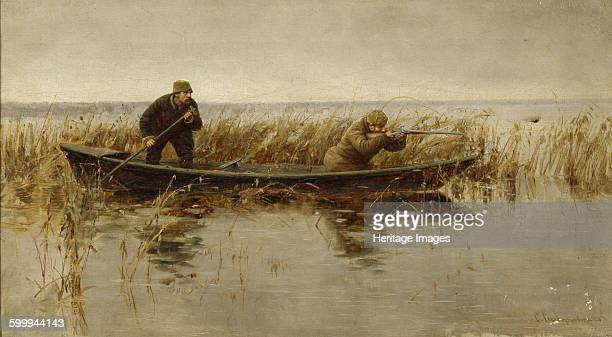 Duck hunt Second Half of the 19th century Found in the collection of Regional Art Museum Kirovohrad Artist Silvanovich S