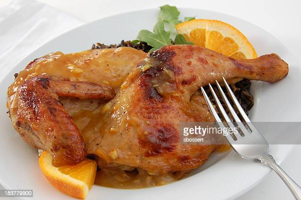 カモ料理、「オレンジ色の丈 - 鴨肉 ストックフォトと画像