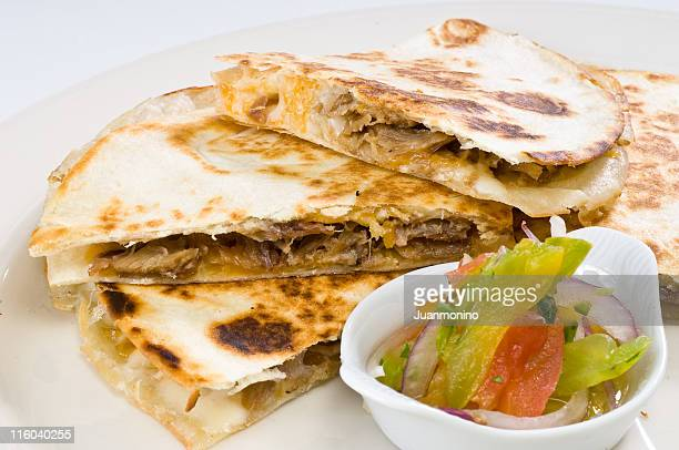 Duck Quesadilla and pico de gallo