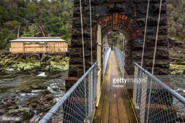 duck reach power station at cataract gorge, launceston, tasmania - launceston australia stock pictures, royalty-free photos & images