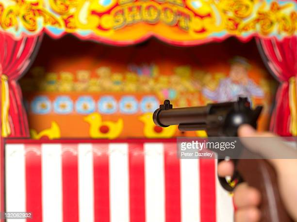 duck shooting gallery - carnival stock pictures, royalty-free photos & images