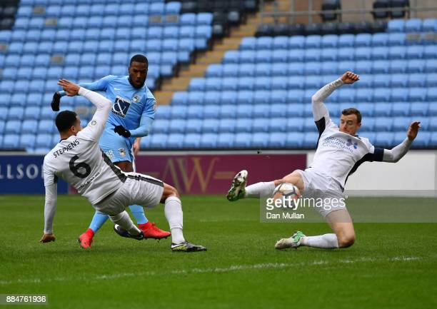 Duckens Nazon of Coventry City scores his sides first goal during the The Emirates FA Cup Second Round match between Coventry City and Boreham Wood...