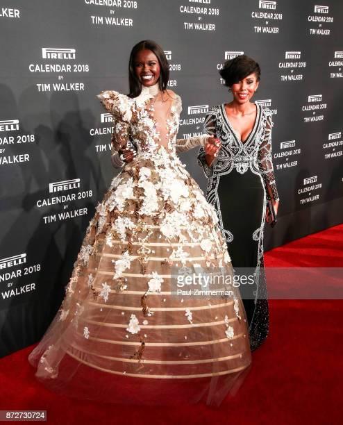Duckie Thot and Jaha Dukureh attend Pirelli Calendar 2018 Launch Gala at The Manhattan Center on November 10 2017 in New York City