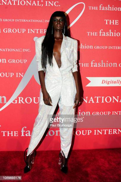Duckie Thot attends Fashion Group International Night Of Stars 2018 at Cipriani Wall Street on October 25 2018 in New York City