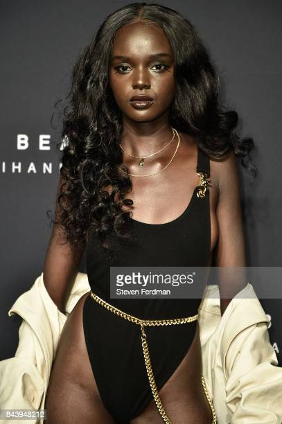 Duckie Thot attends Fenty Beauty by Rihanna Launch on September 7 2017 in the Brooklyn borough of New York City New York