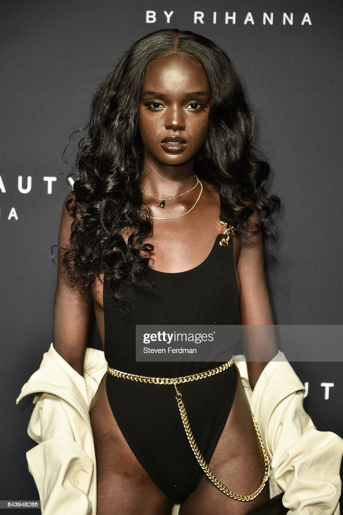 Duckie Thot attends Fenty Beauty by Rihanna Launch on September 7, 2017 in the Brooklyn borough of New York City, New York.