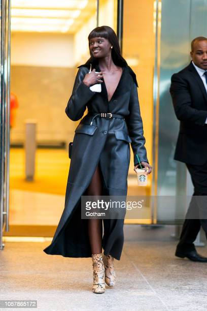 Duckie Thot attends fittings for the 2018 Victoria's Secret Fashion Show in Midtown on November 5 2018 in New York City