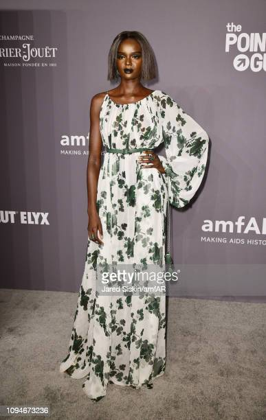Duckie Thot attends the amfAR New York Gala 2019 at Cipriani Wall Street on February 6 2019 in New York City