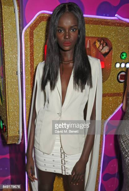 Duckie Thot attends the LOVE magazine x Miu Miu party held during London Fashion Week at Loulou's on September 18 2017 in London England