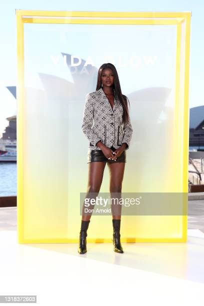 Duckie Thot attends the Vide Glow global launch at Sydney Harbour on May 17, 2021 in Sydney, Australia.