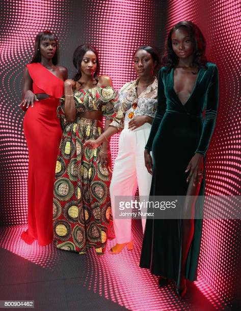 Duckie Thot Jennie Jenkins Sandra Lambeck and Nikki Perkins at the InstaBooth at the 2017 BET Awards at Microsoft Square on June 25 2017 in Los...
