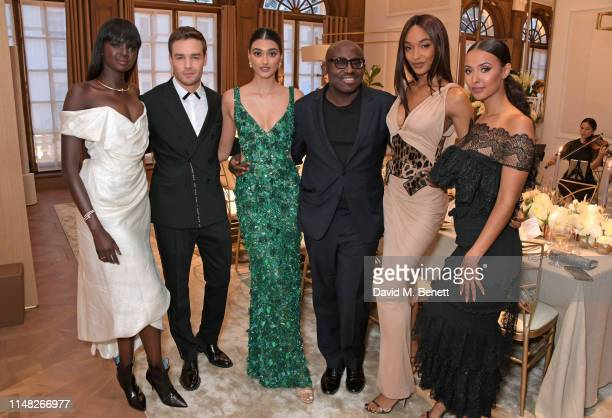 Duckie Thot, Liam Payne, Neelam Gill, Edward Enninful, Jourdan Dunn and Maya Jama attend the Cartier and British Vogue Darlings Dinner at the...
