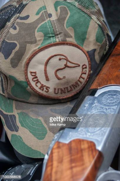 Ducks Unlimited and organisation which brings together duck hunters from all over the US is promoted through this symbol seen on a hat near Minot...