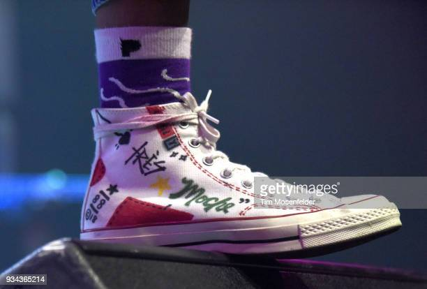Duckwrth shoe detail performs during the SXSW Takeover Eardummers Takeover at ACL Live at the Moody Theatre during SXSW 2018 on March 16 2018 in...