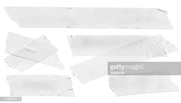 duct tape collection isolated on white - part of stock pictures, royalty-free photos & images