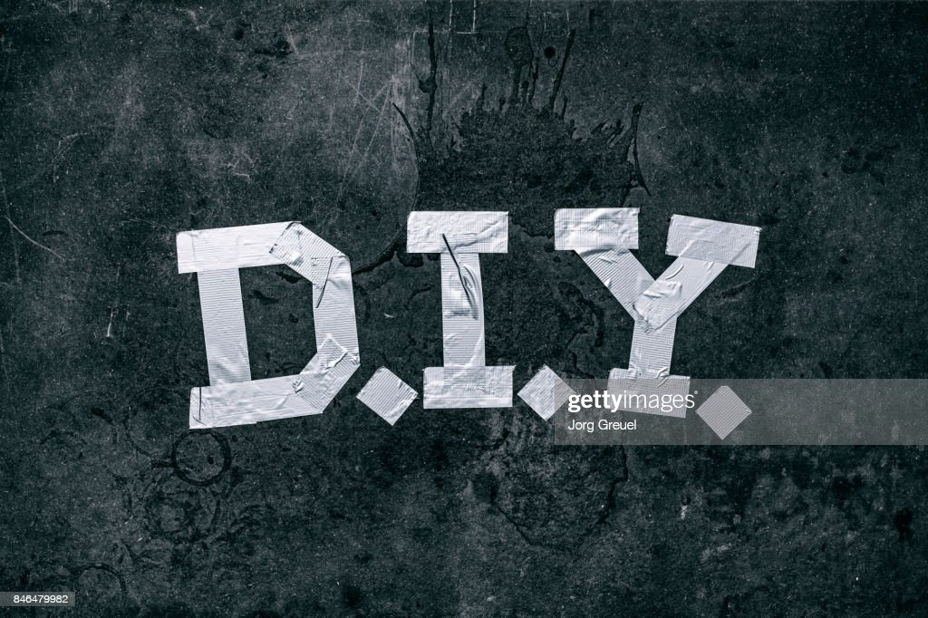 Duct Tape Forming The Letters Diy Photo Getty Images
