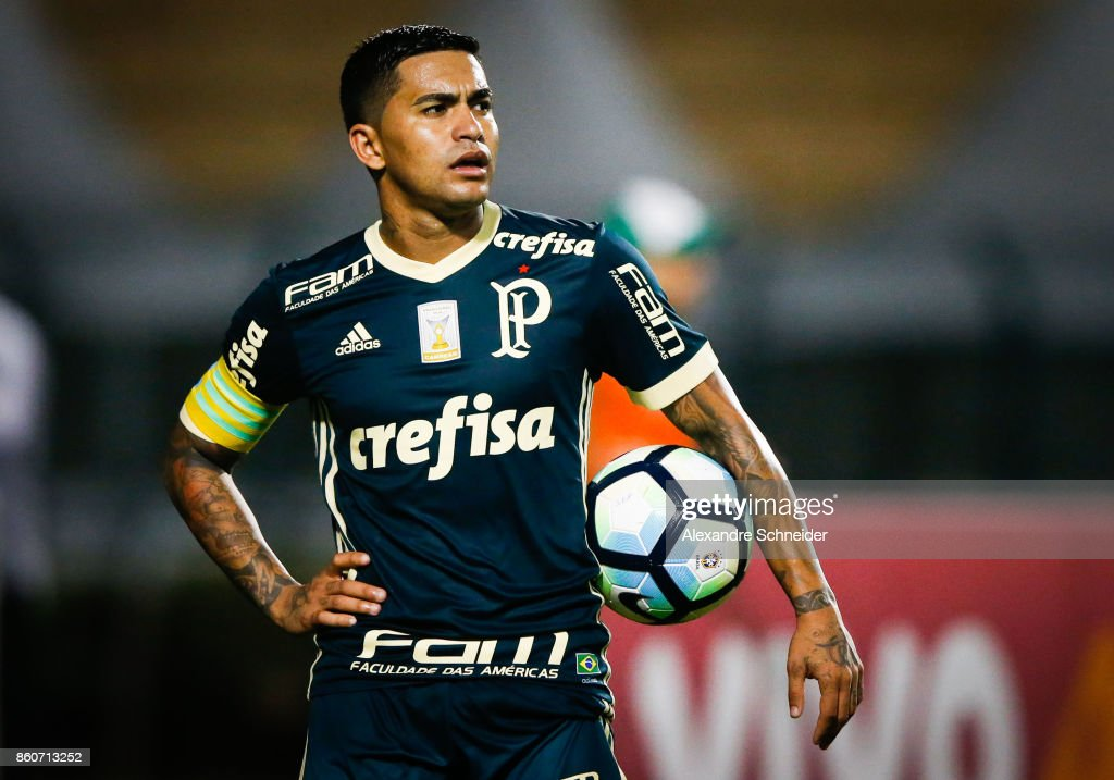 Dudd of Palmeiras in action during the match between Palmeiras v Bahia for the Brasileirao Series A 2017 at Pacaembu Stadium on October 12, 2017 in Sao Paulo, Brazil.