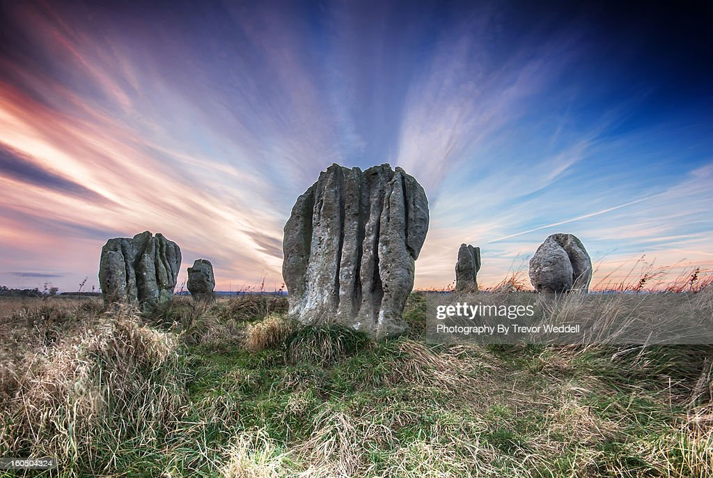 Duddo Stone Circle : Foto de stock