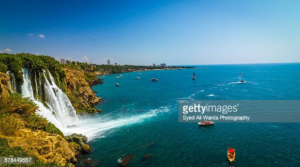 duden waterfalls - antalya province stock pictures, royalty-free photos & images