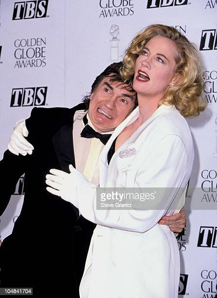 Dudley Moore and Cybill Shepherd during The 52nd Annual Golden Globe Awards at Beverly Hilton Hotel in Beverly Hills California United States
