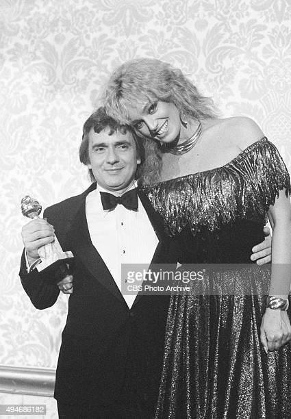 Dudley Moore, and Susan Anton attend the 39th Annual Golden Globe Awards. He is the winner in the category Best Motion Picture Actor - Comedy/Musical...