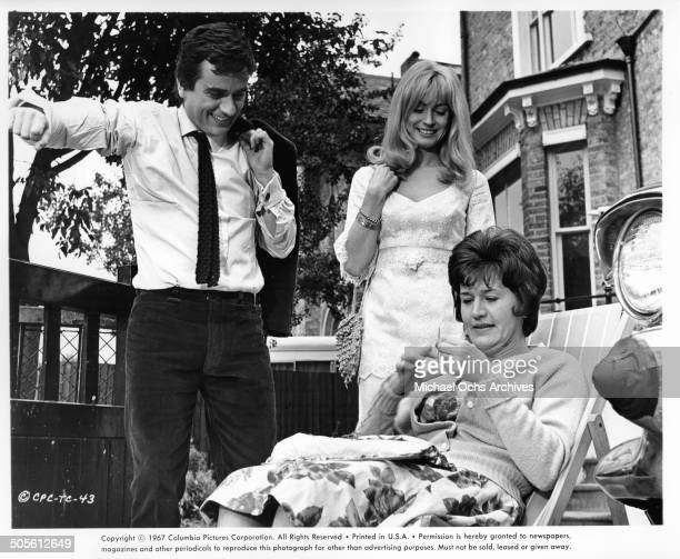 Dudley Moore and Suzy Kendall watch Patricia Routledge in a scene from the movie 30 Is a Dangerous Age Cynthia circa 1968
