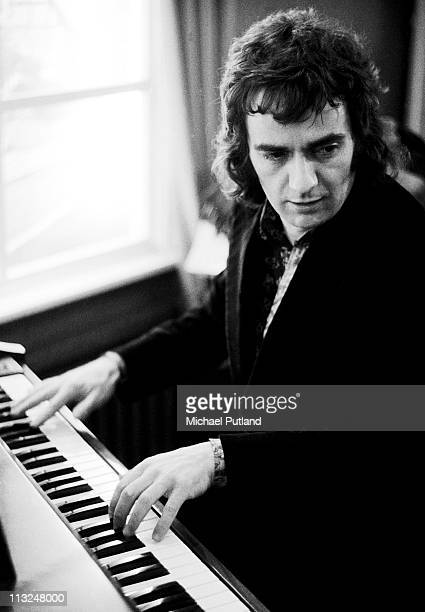Dudley Moore performs at the Selmer Yamaha store London 1971