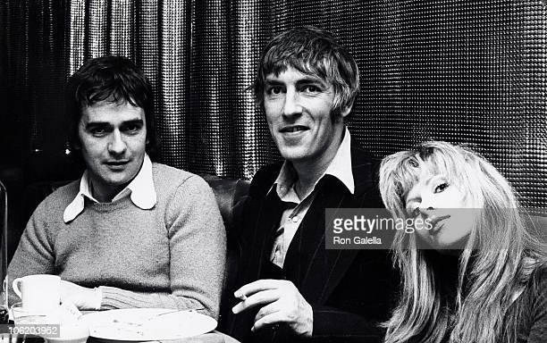 Dudley Moore Peter Cook and Judy Huxtable during Party for Arnold Weisberger's Book Famous Faces December 3 1973 at Pub Theatrical in New York City...