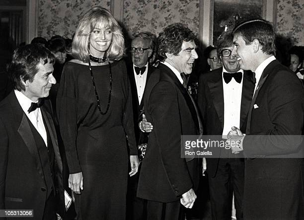 Dudley Moore, Susan Anton, Anthony Newley, Leslie Bricusse and Prince Andrew
