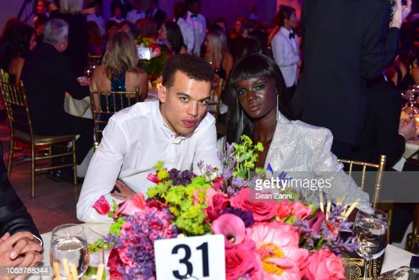 Dudley OÕShaughnessy and Duckie Thot attend Fashion Group International Night Of Stars 2018 at Cipriani Wall Street on October 25 2018 in New York...