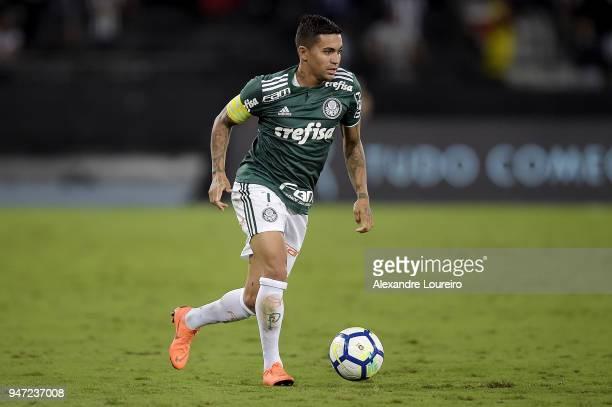 Dudu of Palmeiras in action during the match between Botafogo and Palmeiras as part of Brasileirao Series A 2018 at Engenhao Stadium on April 16 2018...