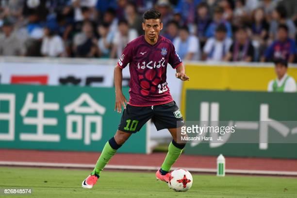 Dudu of Ventforet Kofu in action during the JLeague J1 match between Ventforet Kofu and Gamba Osaka at Yamanashi Chuo Bank Stadium on August 5 2017...