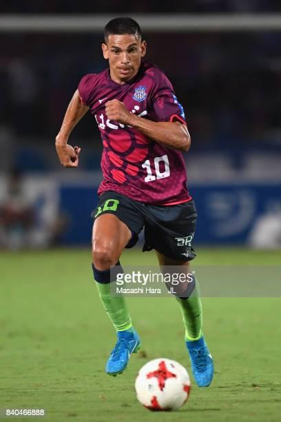 Dudu of Ventforet Kofu in action during the JLeague J1 match between Ventforet Kofu and Kawasaki Frontale at Yamanashi Chuo Bank Stadium on August 27...