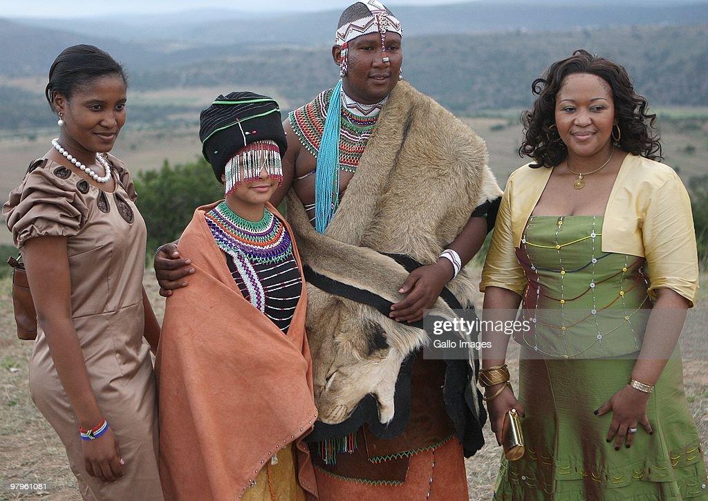Duduzile Zuma L And Thobeka Madiba R With Mandla Mandela Grandson