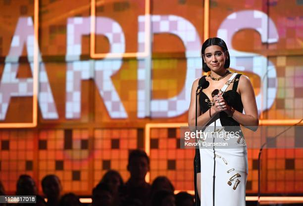 Due Lipa accepts Best New Artist onstage during the 61st Annual GRAMMY Awards at Staples Center on February 10 2019 in Los Angeles California