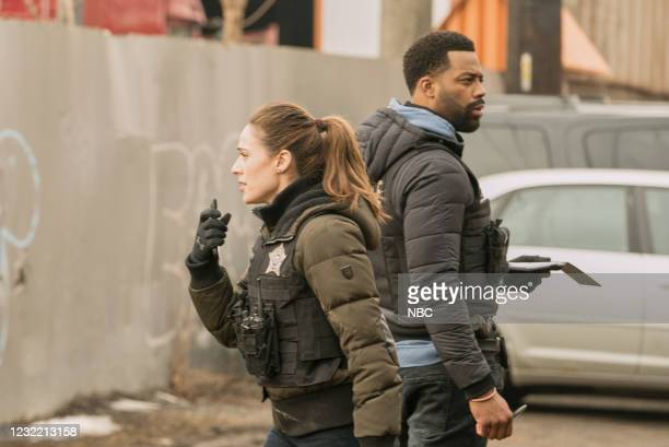 """Due Process"""" Episode 812 -- Pictured: Marina Squerciati as Kim Burgess, LaRoyce Hawkins as Kevin Atwater --"""