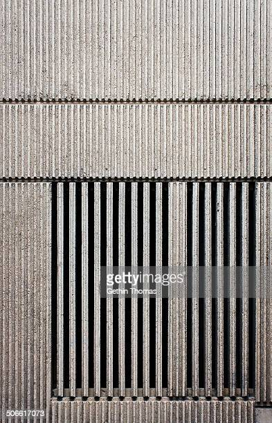 Due to be demolished 2014 Designed by John Madin in the brutalist style South Elevation wall details