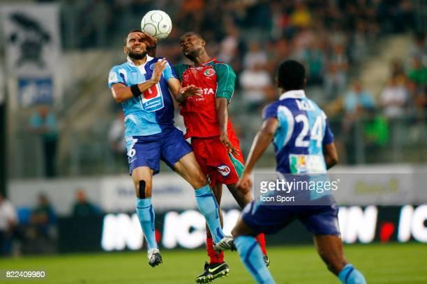 Duel AIT BEN IDIR / SIDIBE - - Sedan / Le Havre - 1ere journee de Ligue 2 - 2009/2010 - Stade Louis Dugauguez - Sedan -