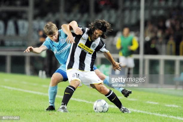 Duel Andrei ARSHAVIN / Mauro CAMORANESI Juventus / Zenith Saint Petersbourg Champions League 2008/2009