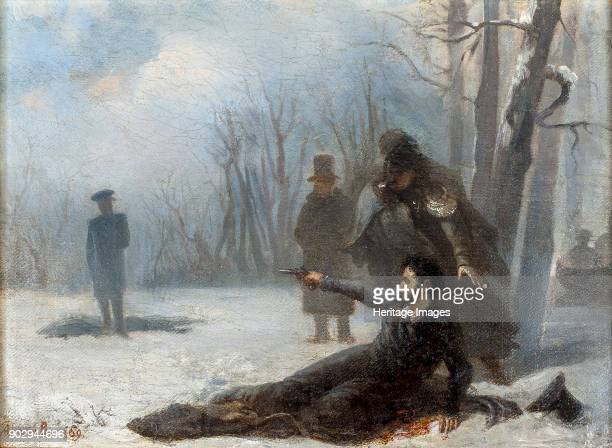 Duel between Alexander Pushkin and Georges d'Anthès. Found in the Collection of A. Pushkin Memorial Museum, St. Petersburg.