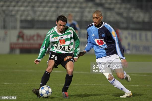 Duel Nicolas CAMI / Guillaume HOARAU Sete / Le Havre 28eme journee de Ligue 2