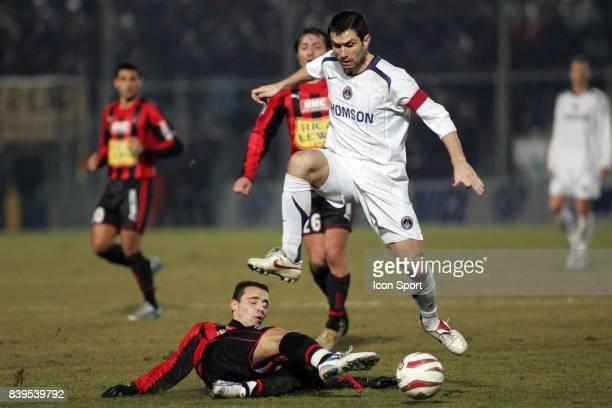 Duel Olivier ECHOUAFNI / PAULETA OGC Nice / Paris Saint Germain 23eme journee de Ligue 1