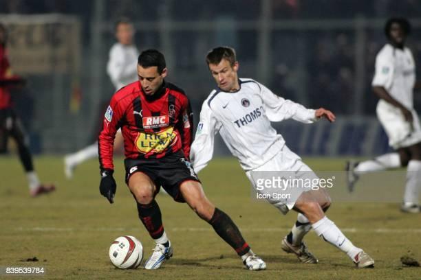 Duel Olivier ECHOUAFNI / Serguei SEMAK OGC Nice / Paris Saint Germain 23eme journee de Ligue 1